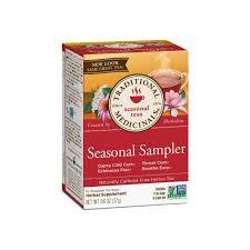 Traditional Medicinals <b>Seasonal Tea</b> Sampler <b>Variety Pack</b> 16 ea ...