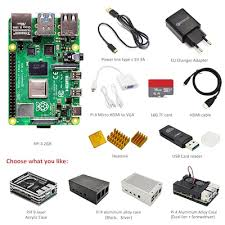 Raspberry Pi 4 Model B 2GB RAM Complete Kit Case EU Power ...