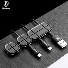 <b>Baseus</b> Cross <b>Peas Cable Clip Baseus Cable Clip</b> 3-Pack Desktop ...