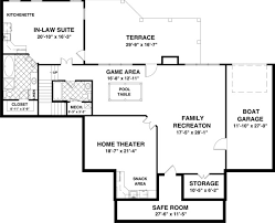 The Long Meadow   Bedrooms and   Baths   The House DesignersOptional Basement Plan