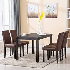 4 chair kitchen table:  family  piece dining table set  chairs kitchen room dinette breakfast wood furniture