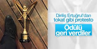 Diriliş Ertuğrul'un yapımcısı Altın Kelebek ödülünü geri verdi