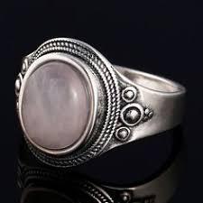 <b>GUYINKU Natural</b> Rose Quartz Rings 925 Sterling Silver <b>Gemstone</b> ...