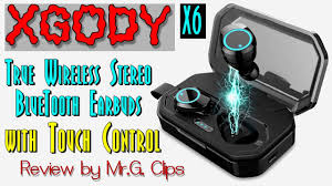 XGODY-X6 TWS <b>BlueTooth Touch Control</b> Earbuds Review ...