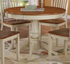 kitchen pedestal dining table set: candice  inch dining table in oak and white buy online
