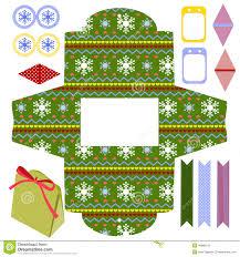 christmas gift box template stock vector image  christmas gift box template royalty stock photo