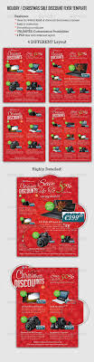 holiday christmas discount flyer template by overthinking holiday christmas discount flyer template commerce flyers