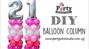 DIY Number <b>Balloon Column</b> Tutorial Party <b>Wholesale</b> Centre ...