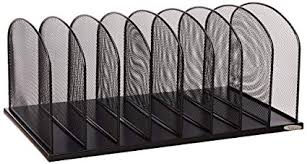 Safco Products Onyx Mesh 8 Sort Vertical <b>Desktop Organizer</b>