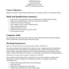 generic resume objective resume examples generic objective for resume general financial analyst career statement and generic resume examples