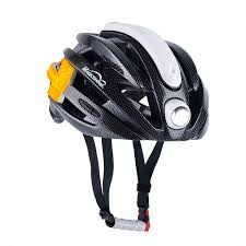 MJ-898 commuter <b>bike helmet</b> with built in <b>lights</b> | Side turning signals