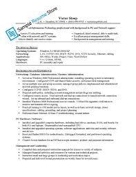 resume system administrator sample network administrator resume