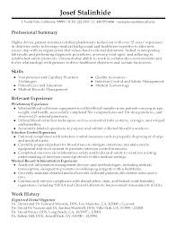 phlebotomy example resume cipanewsletter entry level phlebotomist resume