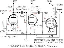dave schmarder s 2 tube audio amplifier schematic electr dave schmarder s 2 tube audio amplifier schematic