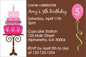 Birthday Invites: Free Birthday Party Invitation Templates for ... ... Free Birthday Party Invitation Templates Simple Birthday Parties Invitations Celebrate 5th Children Boys Or Girls Cake ...