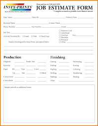 7 job estimate form itinerary template sample docstoc 404 not found