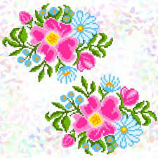 <b>Флизелин с рисунком Confetti</b> K343 Полевые цветы | Цветы ...