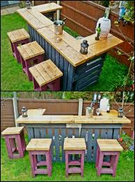 patio furniture from pallets. 20 creative patio outdoor bar ideas you must try at your backyard furniture from pallets