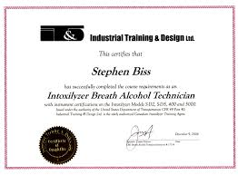 stephen r biss b a ll b curriculum vitae since 2004 qualified intoxilyzer breath alcohol technician