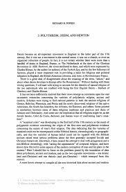 polytheism deism and newton springer inside
