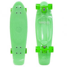 <b>Скейт Y-Scoo Big Fishskateboard</b> Glow 27 Green-Green 402E-G