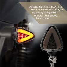 1Pair <b>Motorcycle LED</b> Turn Signal Daytime Running Light Blinker ...