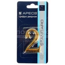 <b>Номер на дверь Apecs</b> «2» DN-01-2-Z-G в Москве: отзывы, цены ...