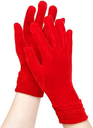 Women's Winter <b>Velvet Gloves</b> Lady's Warm Stretchy Special ...