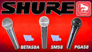Сравнение <b>микрофонов SHURE</b> BETA58A, <b>SHURE</b> SM58 ...