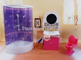purple bathroom washroom hand washing sink closestool sets dollhouse furniture accessories for barbie kurhn barbie dollhouse furniture cheap