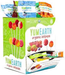 100 <b>Organic</b> Yum Earth <b>Assorted Fruit Lollipops</b> in Dispensing Gift ...