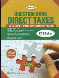 sitaraman question bank direct taxes g sekar