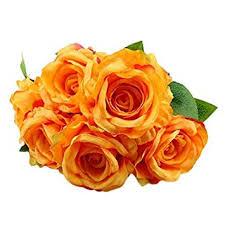 WYXlink <b>Artificial</b> Flowers, 6 Head Rose <b>Silk</b> Moisturizing Beautiful ...