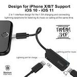 <b>BASEUS</b> ORIGINAL Audio <b>Cable</b> Converter L37 <b>LIGHTNING MALE</b> ...