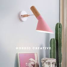 <b>Simple Nordic</b> Wall Lamps 7 <b>Colors Led</b> Bedroom beside light ...