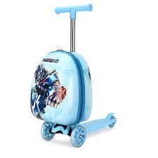 <b>Детский чемодан</b>-самокат с роботом