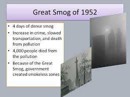 「Great Smog of 1952、London Smog Disasters」の画像検索結果