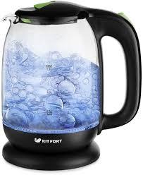 Купить <b>Чайник электрический KITFORT КТ</b>-<b>625</b>-2, черный и ...