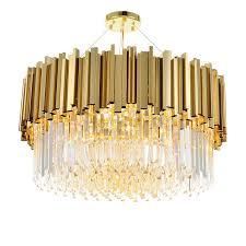 wongshi Modern <b>Gold Luxury</b> K9 <b>Crystal</b> Bar Stainless Steel ...