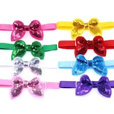 30 Pcs <b>Pet Dog Bow</b> Tie <b>Christmas Sequin</b> Bowknot Puppy <b>Dog</b> Cat ...