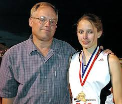 <b>Stacy Slight</b> WY with Dad, Kim. <b>Stacy</b> won the 800m. - stacyslightanddad