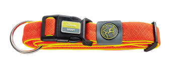 <b>Hunter ошейник</b> для собак <b>Maui</b>, сетчатый текстиль, оранжевый