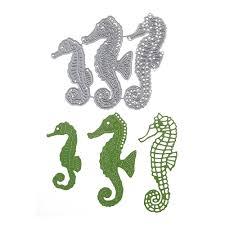 Cute Ocean <b>Seahorse</b> DIY <b>Metal Cutting</b> Dies Embossing Stencil ...