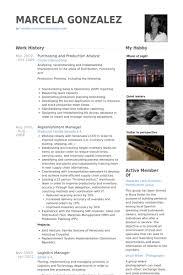 purchasing resume samples   visualcv resume samples databasepurchasing and production analyst resume samples
