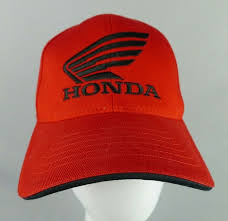 <b>Flexfit</b> Honda Motorcycles <b>Low Profile</b> Hat Red Cotton With Black ...