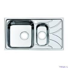 Врезная металлическая мойка для кухни с двумя чашами ...