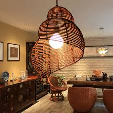 southeast asian pastoral rattan conch droplights s asian pendant lighting