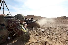 u s department of defense photo essay an afghan ier fires a rifle at a range on forward operating base shukvani in s