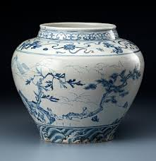 The date of a rare <b>blue</b>-and-<b>white</b> wine jar in the <b>Chinese</b> Collection ...