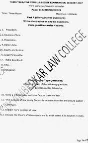 lawdetails pot in semester jurisprudence s v jurisprudence 3 year llb 2007 page